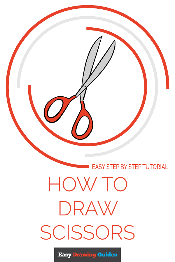 How To Draw Scissors Really Easy Drawing Tutorial Drawing Tutorial Easy Easy Drawings Drawing Tutorial