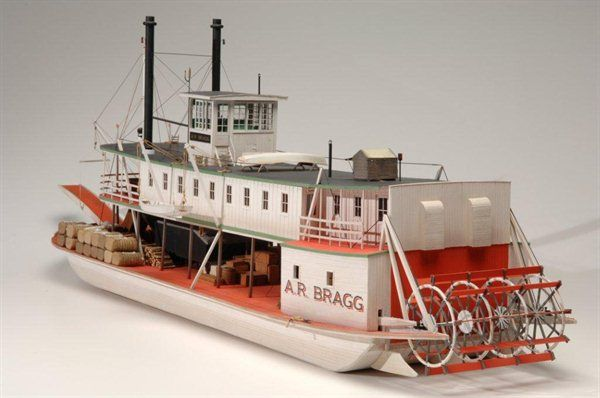 This is a Civil War Era Louisiana sternwheeler / paddle wheel model, built for a museum exhibit ...