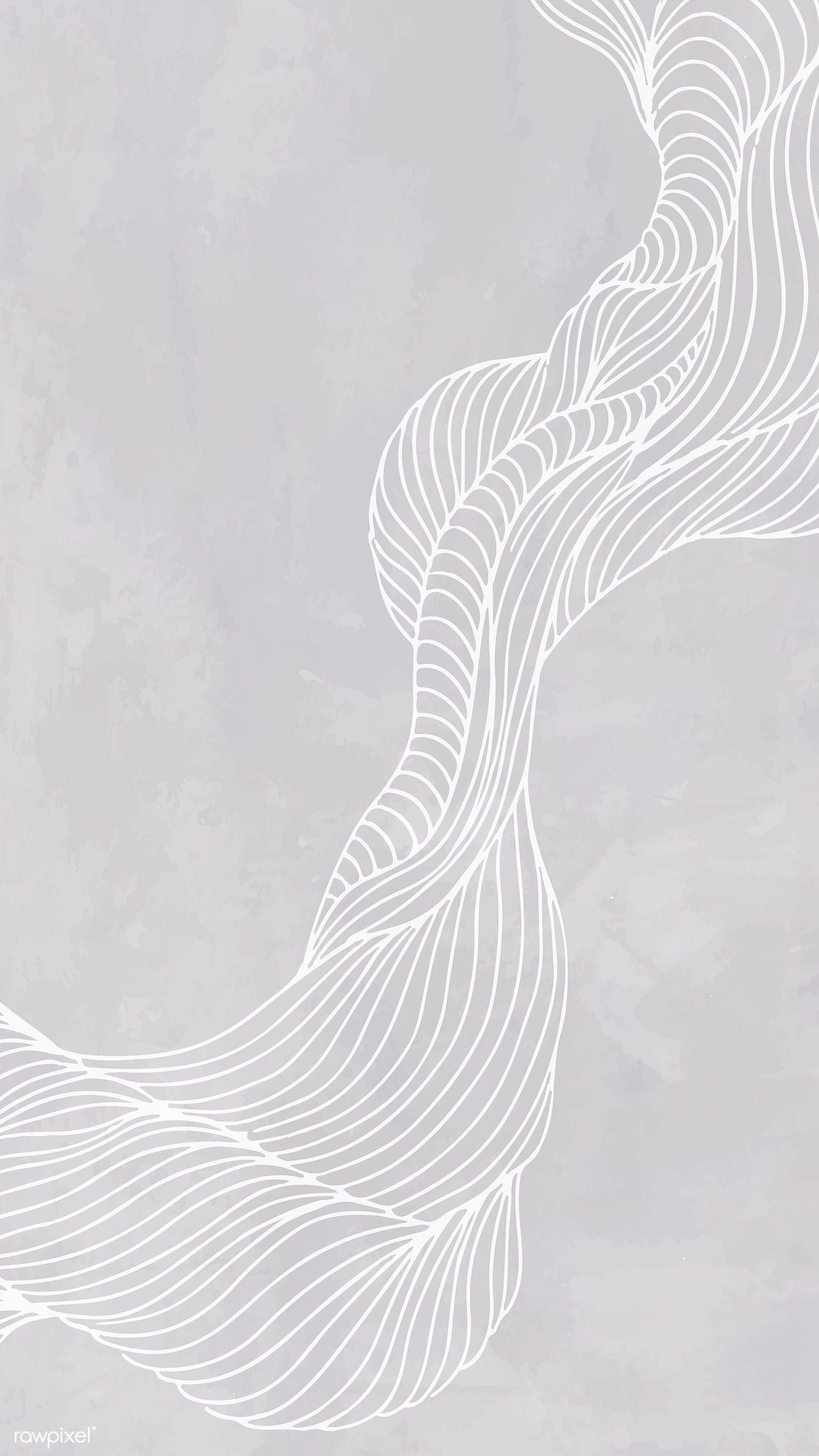 Download premium vector of Gray abstract line frame mobile phone wallpaper
