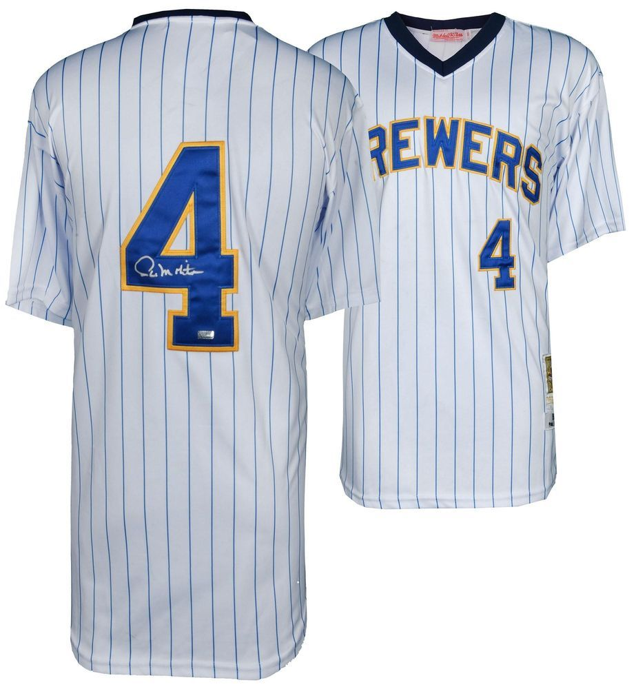 online store 30ca8 a1b05 Paul Molitor Milwaukee Brewers Autographed White Jersey SMI ...