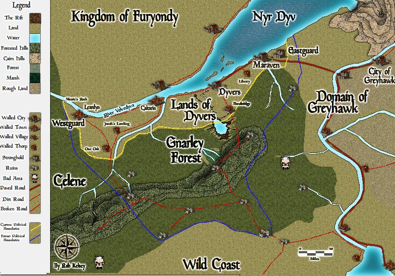 Dungeons /& Dragons Grayhawk World Canvas Map