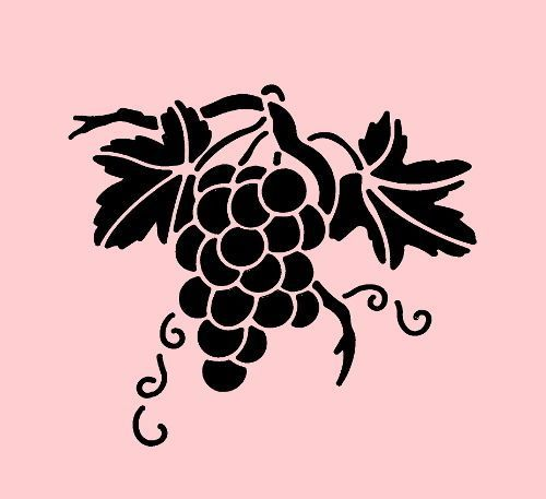 Grape stencil | ebay.