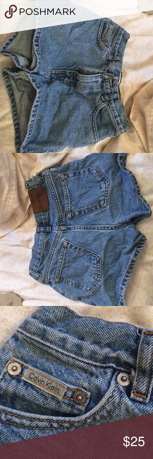 Calvin Klein High Waisted Jean Shorts High waisted Calvin Klein jean shorts Calvin Klein Pants