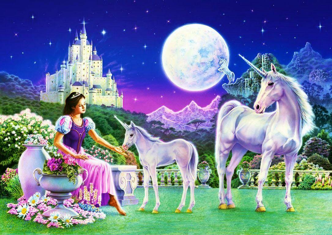 Beautiful Princess Fantasy Fairytale Castle Giant Wall Art Poster Print