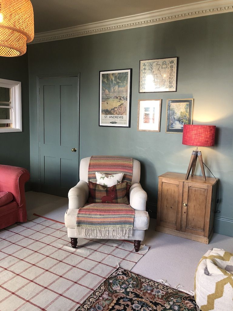 Cosy Snug Lounge Green Dining Room Victorian Living Room Living Room Green