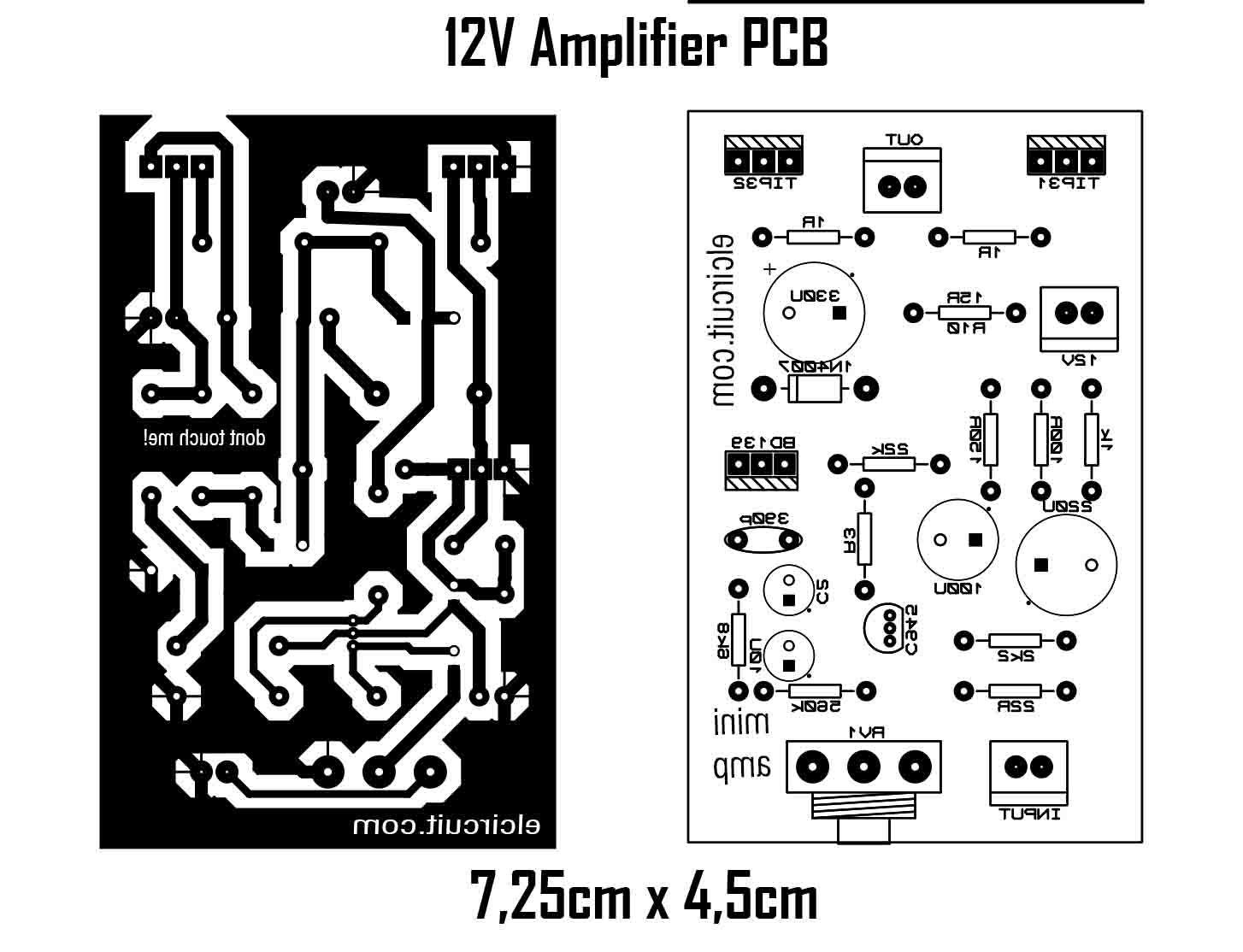Diy Mini 12volt Power Amplifier Rangkaian Elektronik Desain Tata Letak Elektronik