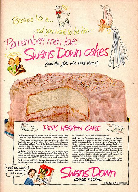 Swans Down Flour Butter Cake recipe Food Vintage recipes