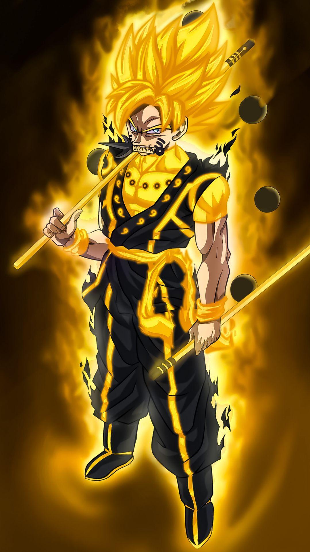 Son Goku Goku E Naruto Personagens De Anime Wallpaper Do Goku