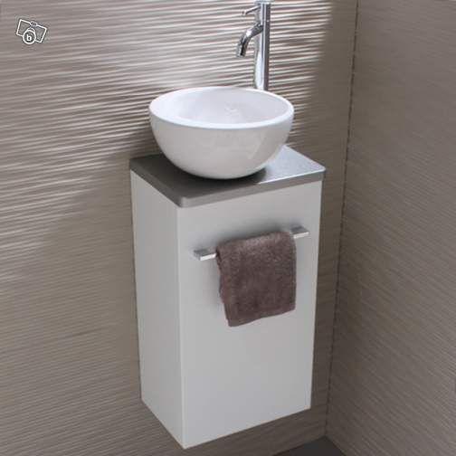 Meuble Lave-Mains avec vasque bol + Robinet Ameublement ...