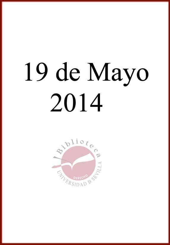 Novedades. 19 de mayo de 2014.