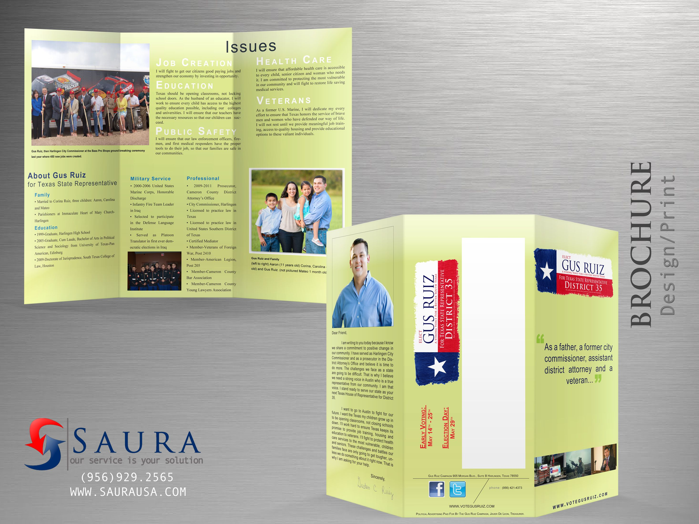 Political Brochure For Gus Ruiz Brochure Gus Design Solutions