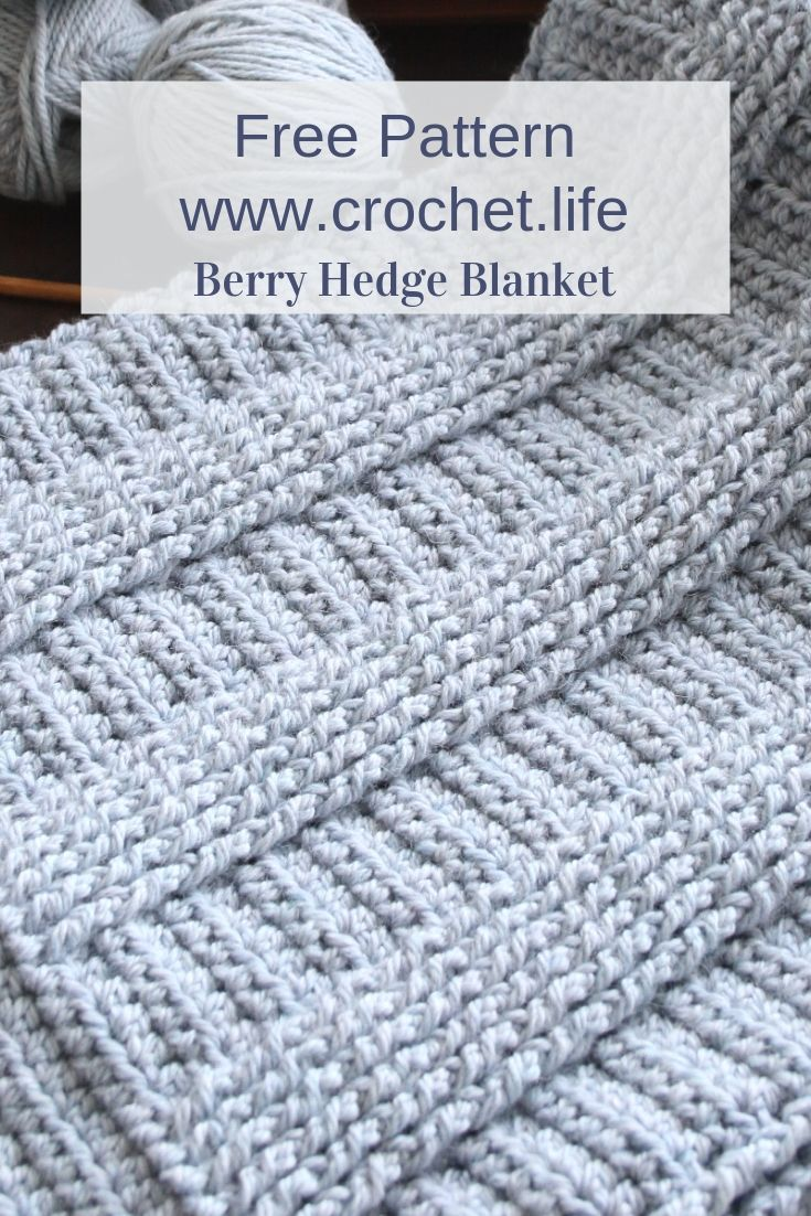 DIY crochet pattern for blanket or throw by