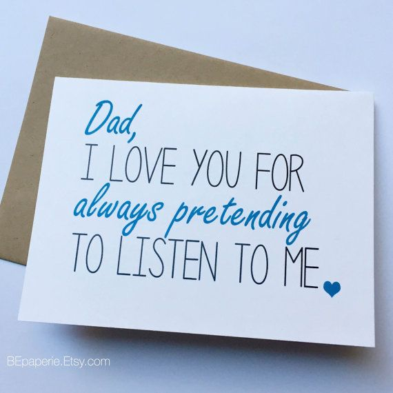 Dad Card Dad From Daughter Dad Birthday Card Fathers Day Card