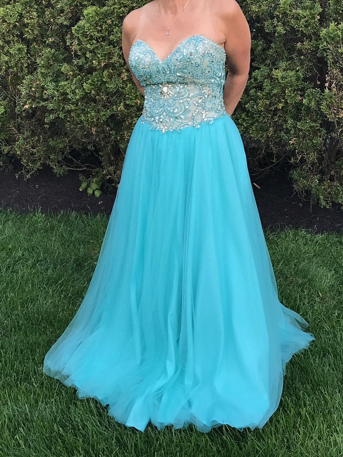 Nice terani couture tulle beaded ball gown formal prom quinceanera