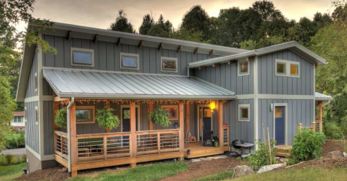 A Net Zero Energy Home In North Carolina Produces More Electric Than It Consumes Via Energy Vanguard Solar House Plans Cottage House Plans Solar House