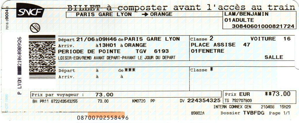 France Tgv Train Ticket Validation Punching Paris By Train Train Tickets Train Train Projects