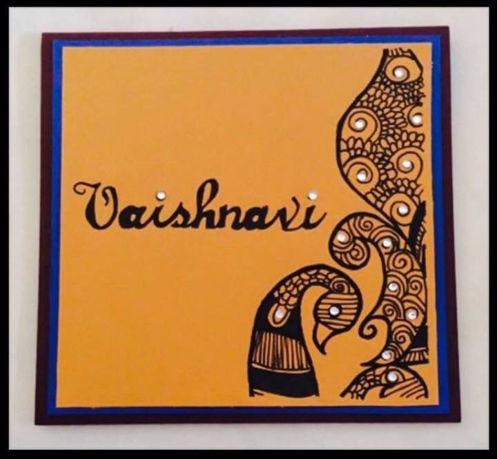 Indian Birthday Card With Henna Design Cards Handmade Henna Design Beautiful Handmade Cards