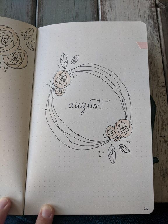 Getting ready for August! : bulletjournal #augustbulletjournal