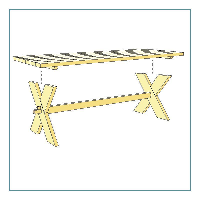 bygga plankbord med kryssben