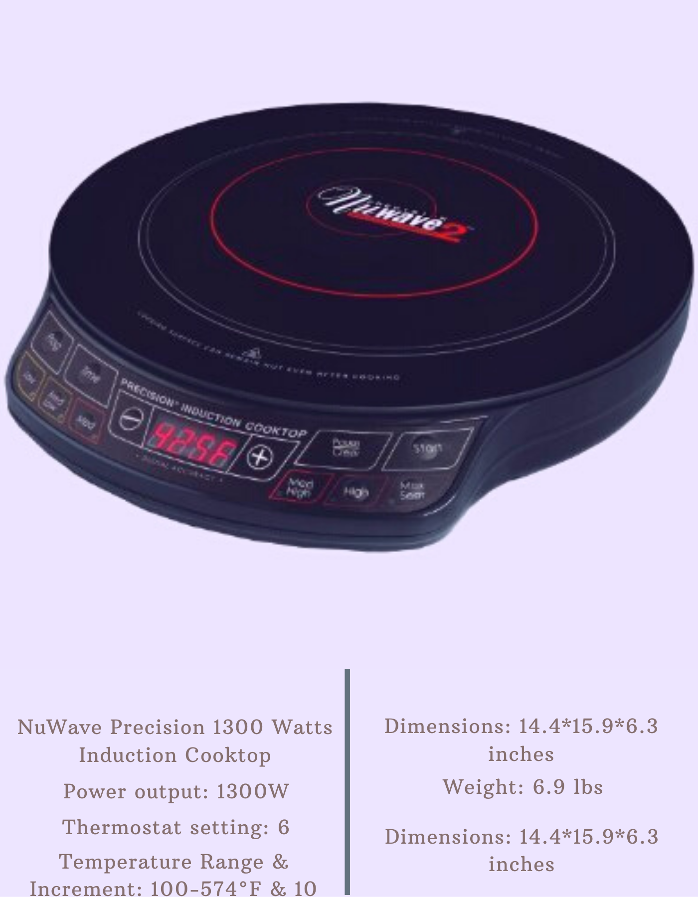 Nuwave Precision 1300 Watts Induction Cooktop In 2020 Electric Stove Induction Cooktop Cooktop