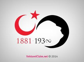 Vektorel Cizim 10 Kasim Ay Yildiz Ve Ataturk Silueti My Moon And Stars Tech Company Logos Logos