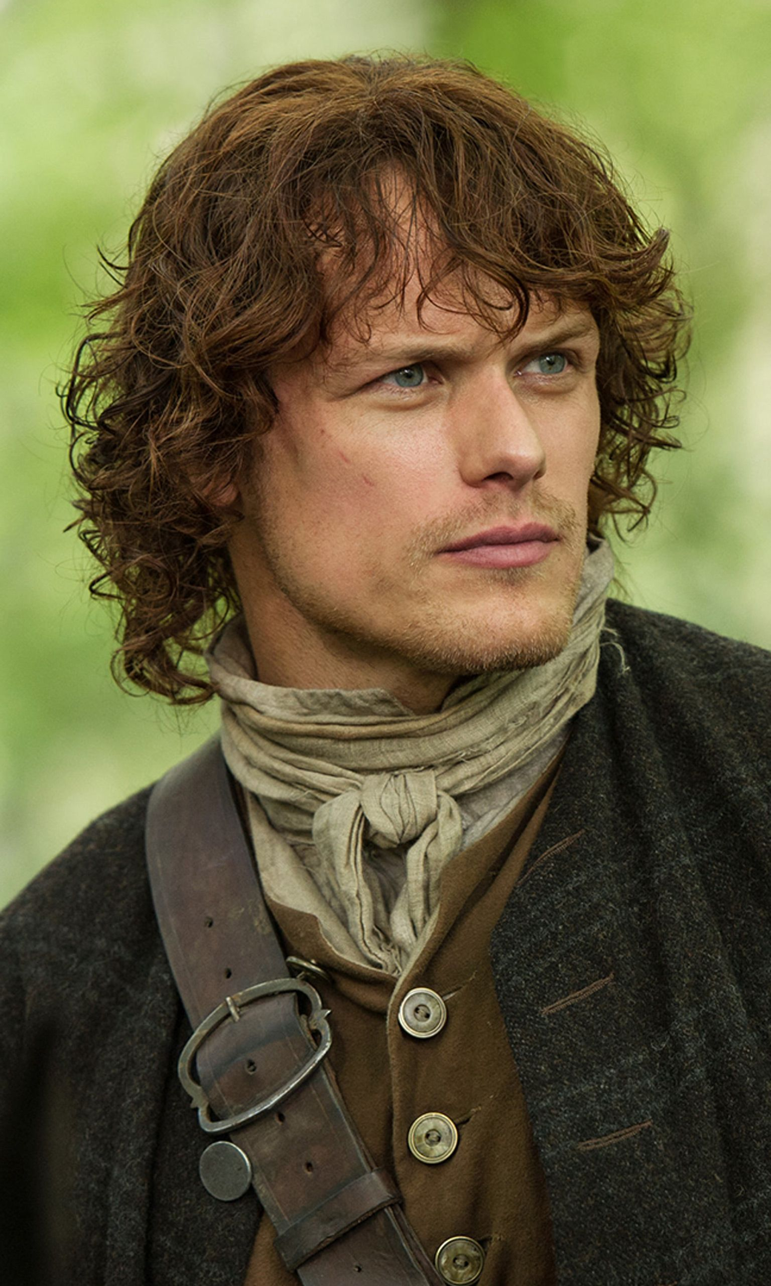 Jamie Fraser played by Sam Heughan   Outlander on Starz   Costume Designer TERRY DRESBACH