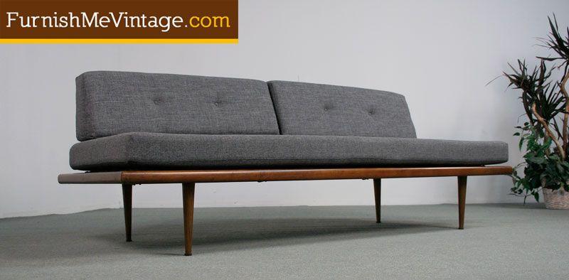 Mid Century Modern Danish Style Platform Daybed | Furnish Me Vintage