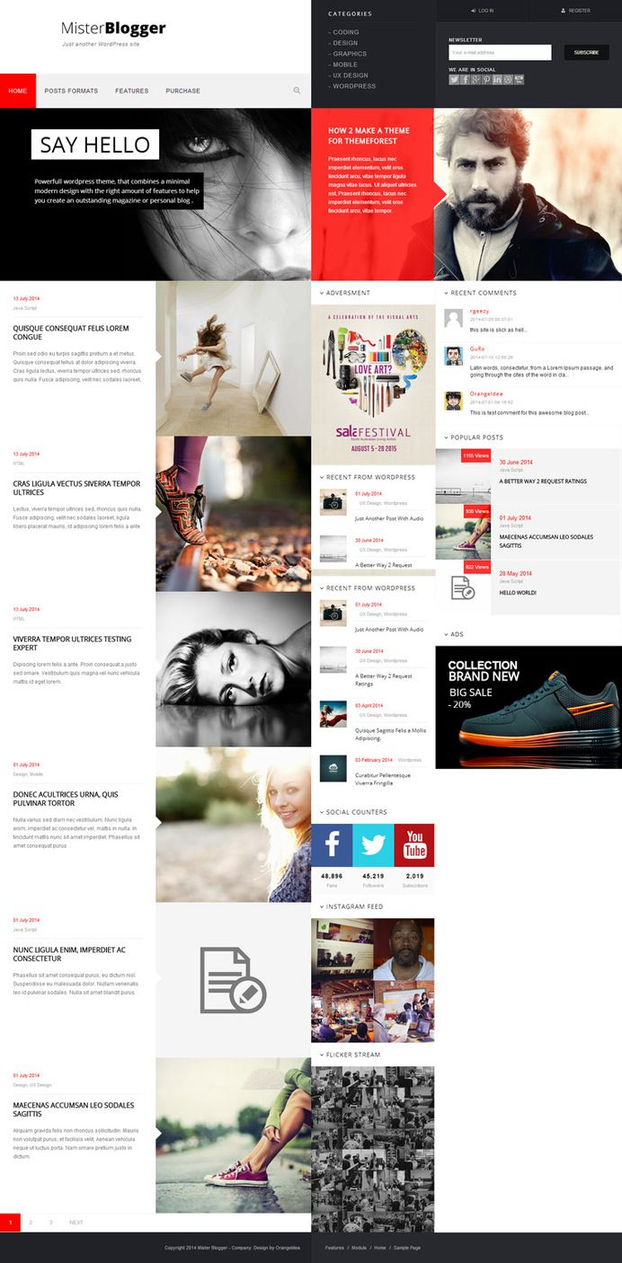 Web Design Block Red Web Design Concept Layout Minimal Unique Web Design Page Layout Design Interactive Design