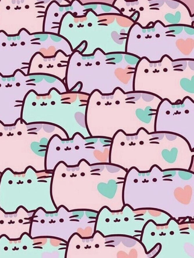 Perfect Pusheen Cute, Cat Wallpaper, Pusheen Wallpaper, Crazy Cat Lady, Crazy Cats,  Kawaii Things, Grumpy Cat, 7th Birthday, Birthday Party Ideas