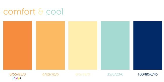 Orange Blue Yellow Blue Color Schemes Paint Color Palettes Orange Color Schemes