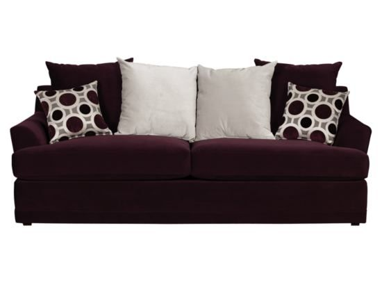 Radiance Plum Sofa   Value City Furniture