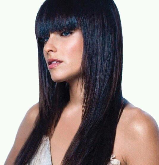 Cortes de cabello largo color negro