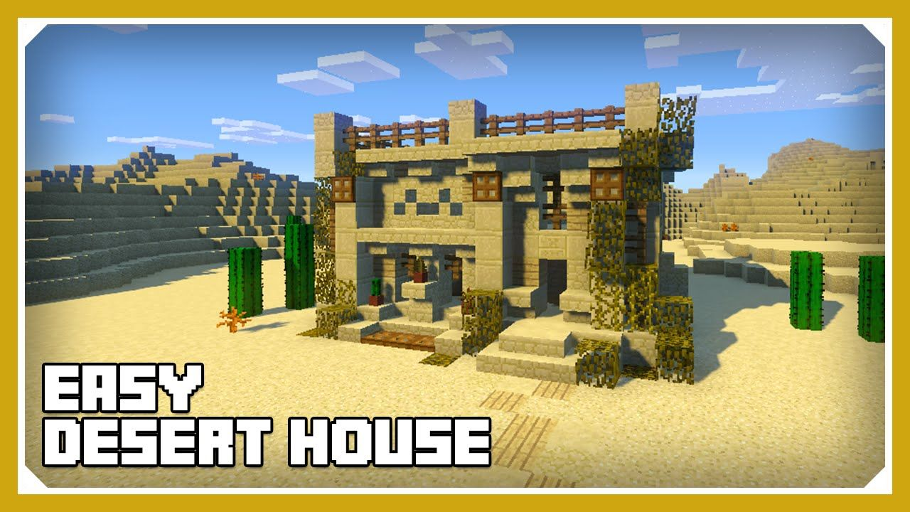 Minecraft How To Build A Desert House Tutorial Easy Survival
