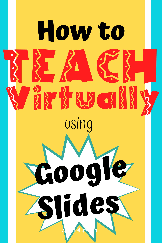 Using Slides To Teach Online In