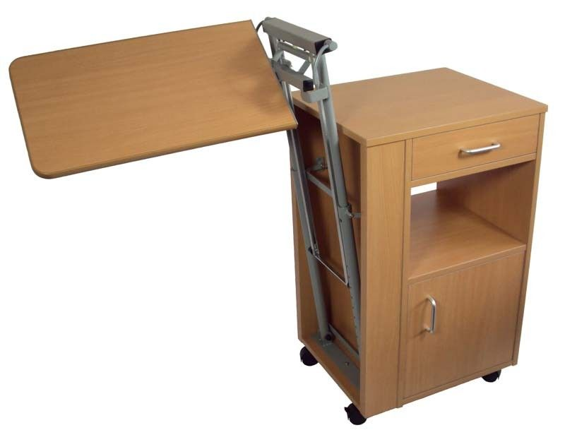 Bedside Cabinet With Overbed Table Furniture Laptop