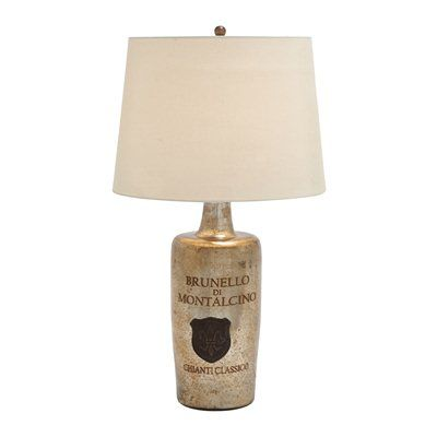Woodland Imports 27963 Glass Table Lamp