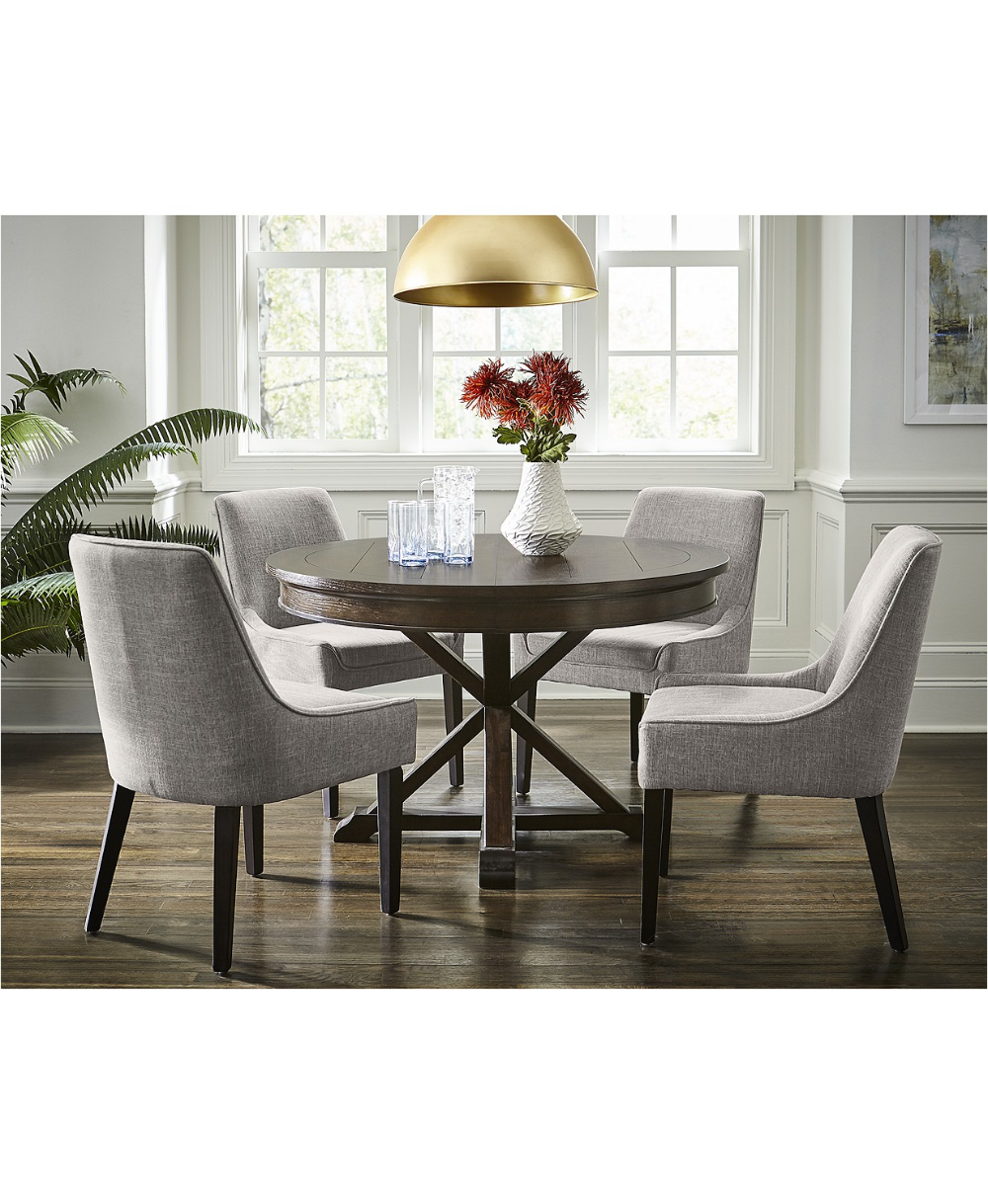 Furniture Everly Dining Chair, 4-Pc. Set  (4 Square Back Side Chairs), Created for Macy's & Reviews - Furniture - Macy's