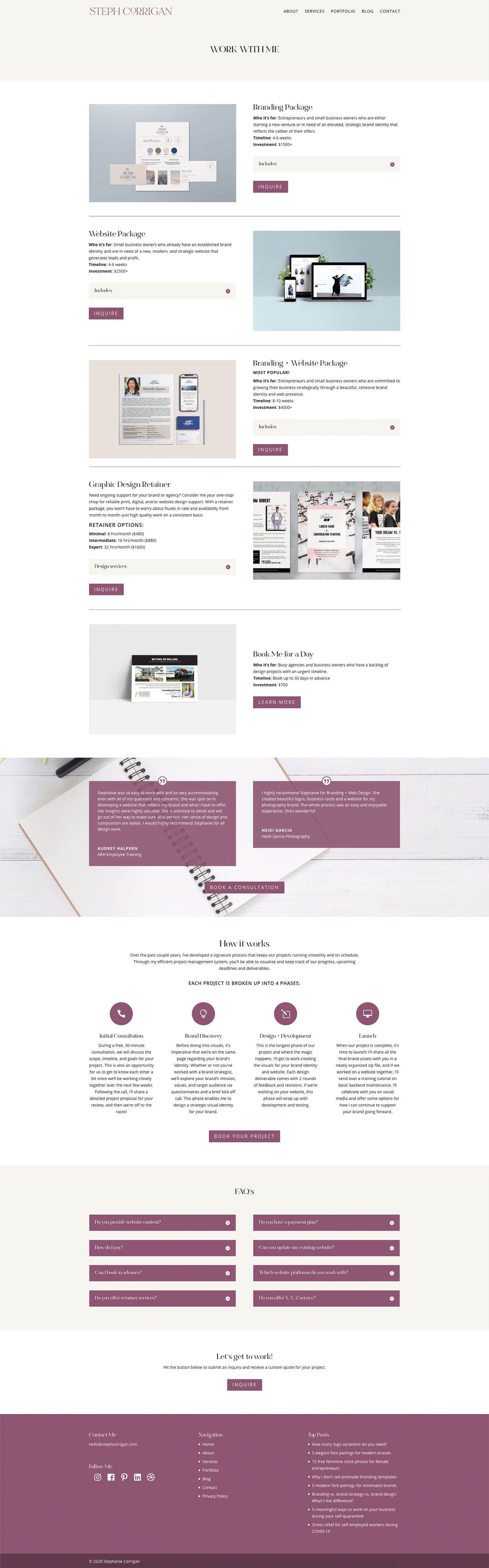 Services Page Design Inspiration In 2020 Minimalist Web Design Web Design Website Inspiration