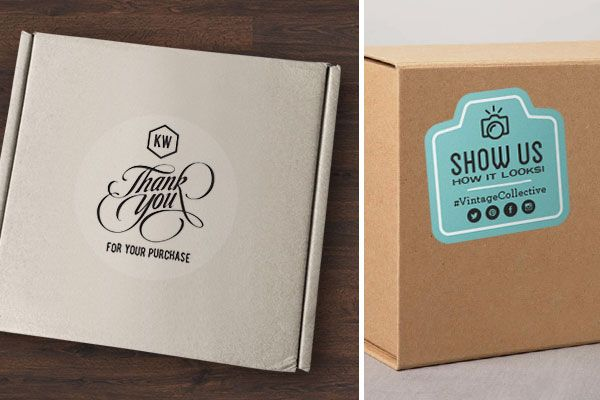 The Art Of The Shipping Package Face Packaging Ideas And Business - Custom business stickers