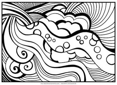 Desenhos Abstratos E Geometricos Para Colorir Facil Desenhos