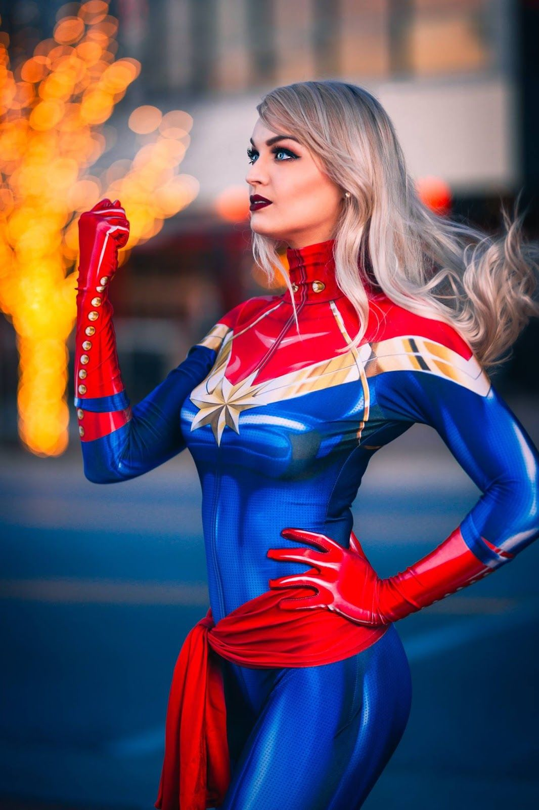 Pin On Marvel Blue and red long sleeve padded jumpsuit, belt, and pull on face mask with mesh eyes and ponytail opening on top. pin on marvel