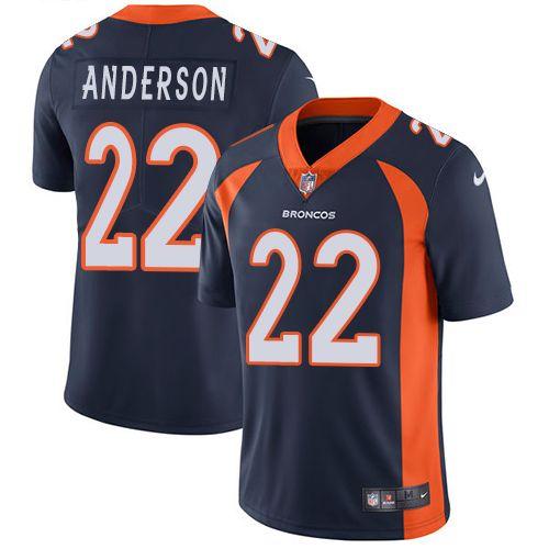 9de756331 ... Denver Broncos Mens 25 Chris Harris Jr Limited Navy Blue Alternate  Vapor Untouchable NFL 49ers Solomon Thomas 90 jersey Nike Broncos 22 C.J.  Anderson ...