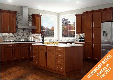 Glenwood Beech Cabinets By Kitchen Kompact Menards Kitchen Cabinets Menards Kitchen Beech Kitchen