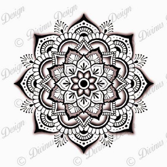 Intricate Mandala Tattoo Design and Stencil  Instant Digital | Etsy