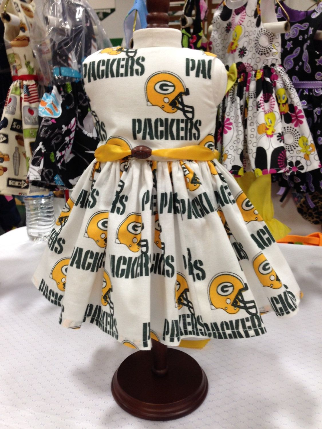 Green Bay Packers NFL football dress fits all 18 inch dolls including American Girl Doll
