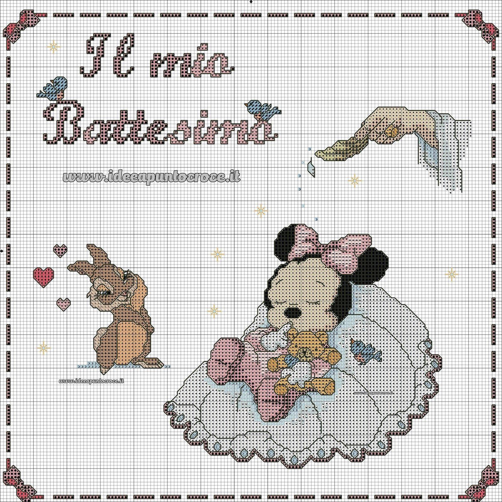 Schemi Disney A Punto Croce Schemi Baby Minnie E