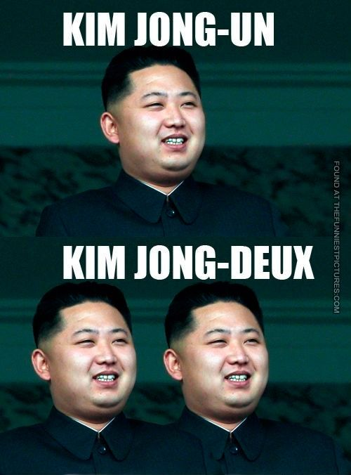 Two French Kim Jong Un French Puns French Meme Bilingual Humor
