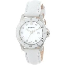 10804dbb6a5 Wenger Ladies  Sport Watch - White Mother-of-Pearl Dial White Genuine  Leather Strap - product - Product Review