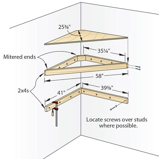 Corner Shelf Plans Tv
