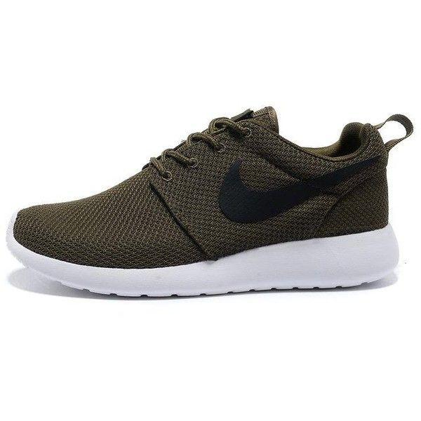 Nike Roshe Run Army Green ❤ liked on